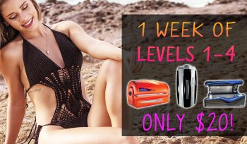 $20 One Week of Tanning in Levels 1 - 4